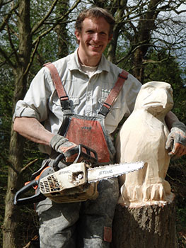 Bollin Buzzard Chainsaw carving
