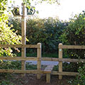 New finger post and stile