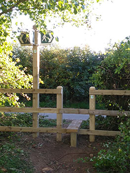 New stile and finger post