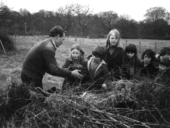 tree planting at lacey green in 1975