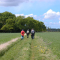 Walkers on the Bollin Valley Way